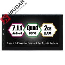 Android 7.1.1 7 Pulgadas Universal de Coches Reproductor de DVD Para Nissan/Toyota Corrola/Volkswagen 2G RAM Wifi GPS de Navegación de Radio Sin DVD