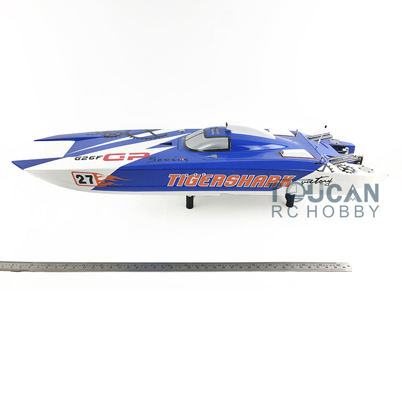 G30F ARTR Catamaran 50 FiberGlass 30CC Engine Gas RC Boat Water Cool Sys Blue aluminum water cool flange fits 26 29cc qj zenoah rcmk cy gas engine for rc boat