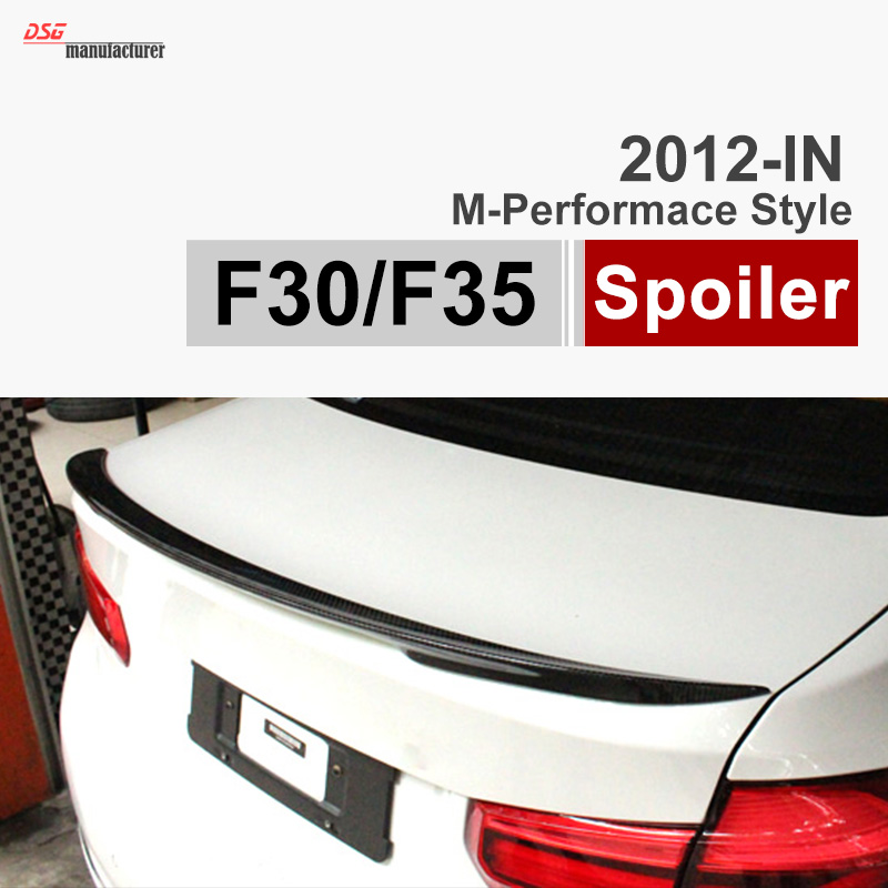 2012 - 2016 F30 m performance style carbon fiber trunk spoiler for BMW 3 Series F30 316i 318i 320i 328i 335i F80 M3 car styling m performance style carbon fiber rear trunk wing spoiler for bmw 3 series f30 2012 2018 318i 320i 328i 330i 335i
