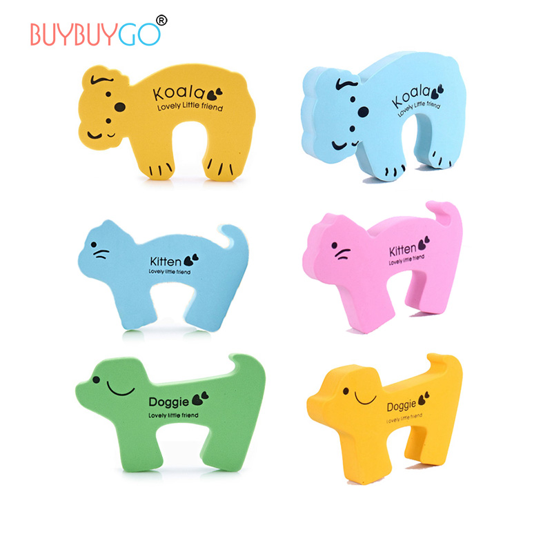Kids 6pcs/set Cartoon Gates Doorways Stopper Guard Baby Safety Door Child Finger Anti-pinch Holder Lock Safety Protector EVA