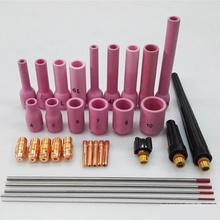 33Pcs Welder Welding Torch TIG Cup Collet Body Nozzle Kit Tungsten Electrode For WP-9/20/25 TIG Welding Torch