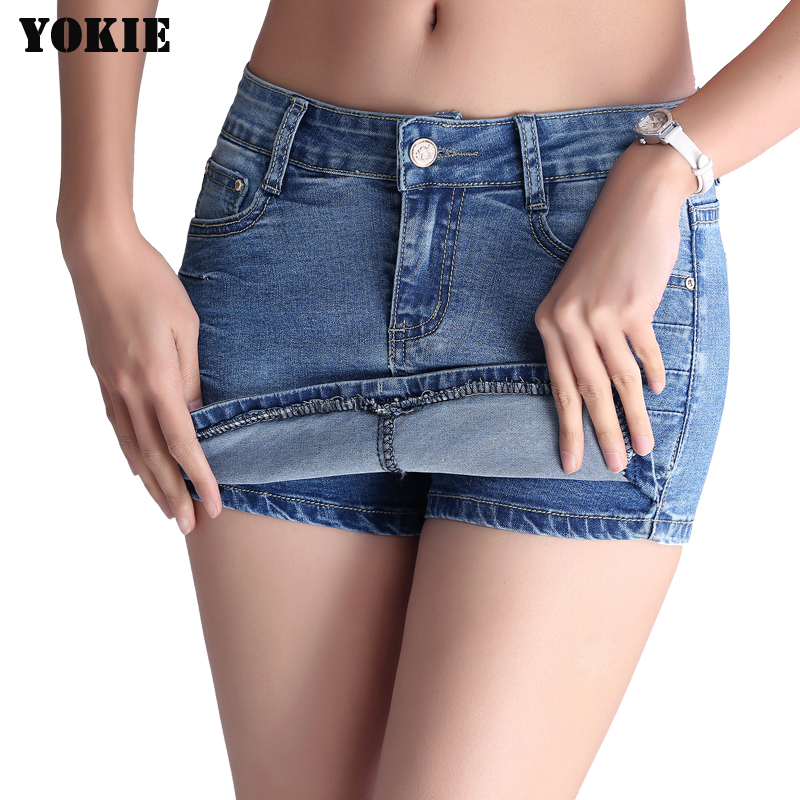 26-32 Plus size Denim Shorts Jeans Womens Sexy Short Femme Clearance skinny mid waist cargo pants