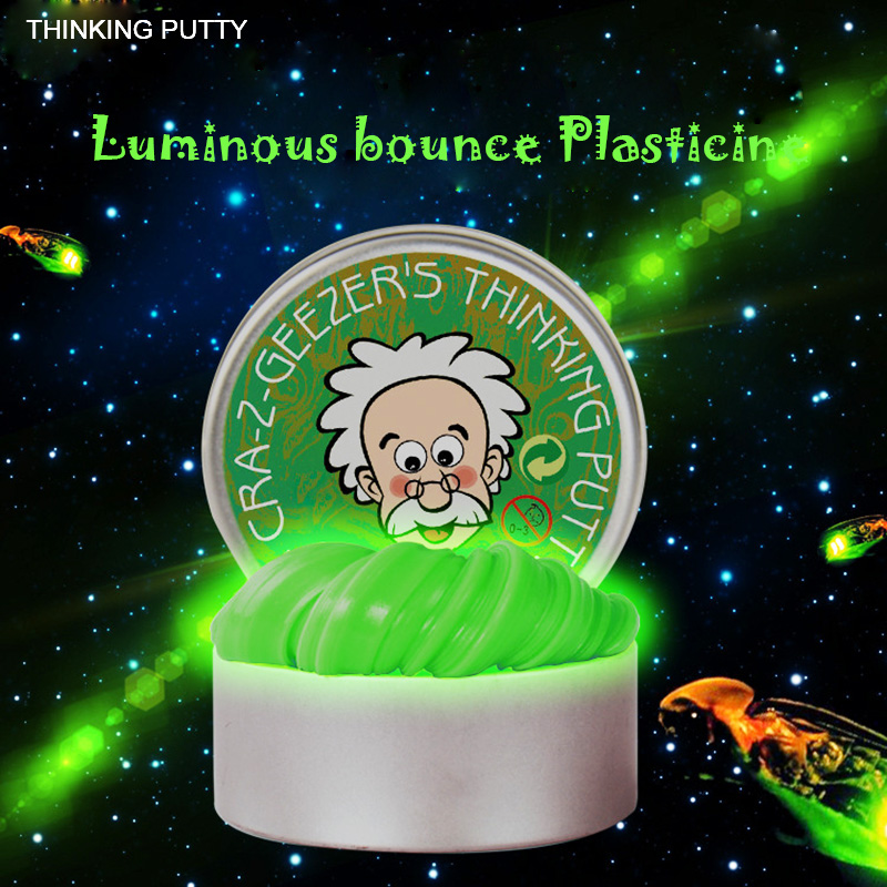 Intelligent Luminous Color Slime Kids Toys 2017 Creative Hand Gum Silly Putty Plasticine Release Clay Children Gifts Rubber Mud