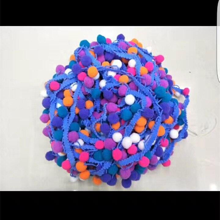 Acheter 27 Mètres Mix Couleurs 15mm Pompon Dentelle Trim Ball Ruban Garniture DIY Pom pom Fourrure Artisanat Pour Rideau Decoraiton à coudre Accessoires de pom pom fiable fournisseurs