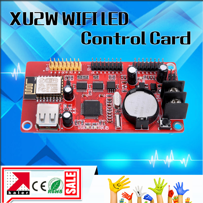 Kaler New WIFI Led Display Control Card XU2W With Onboard Wifi Signal Wireless Led Sign Controller Card With Usb Control Board