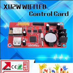 Калер новый wifi светодиодный дисплей управления карты XU2W с бортовым WI-FI сигнала беспроводной светодио дный Сигнальная плата контроллера с