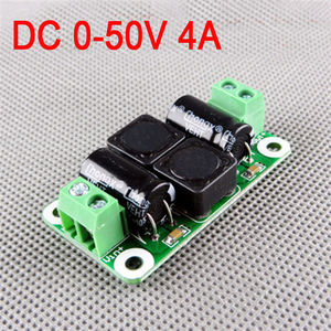 Image 1 - 0 50V 4A DC power supply filter board Class D power amplifier Interference suppression board car EMI Industrial control panel a