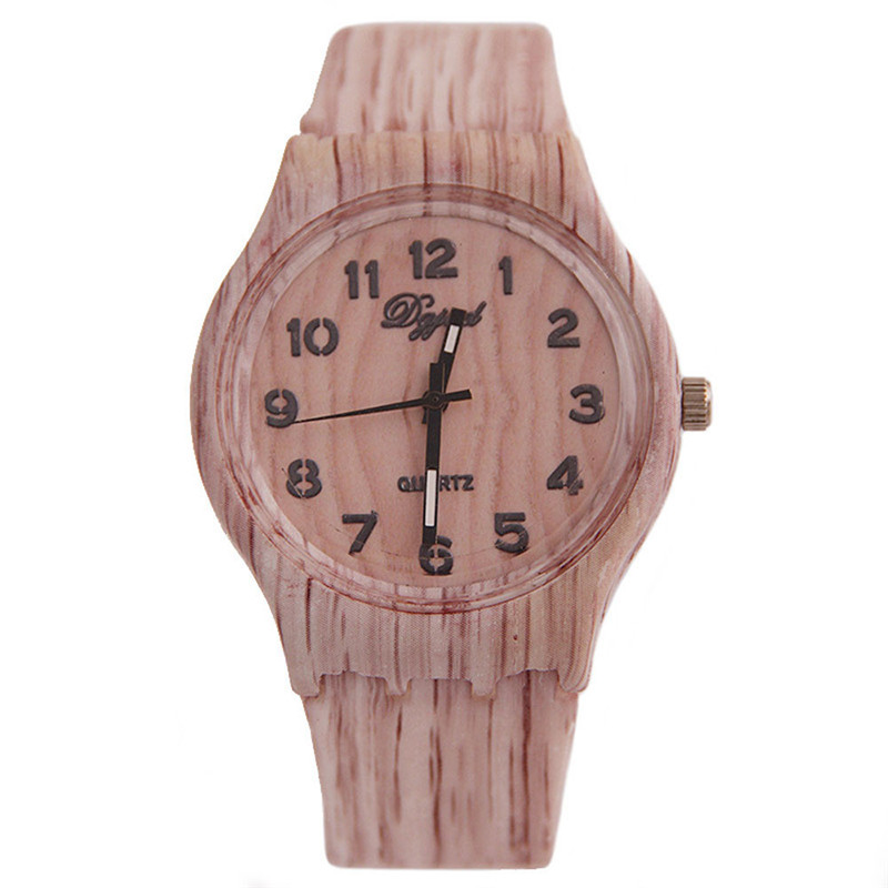 men watch 2018 male great sale hot Luxury unique hot top fashion casual Vintage Wood Silicone Watch relogio clock 170409
