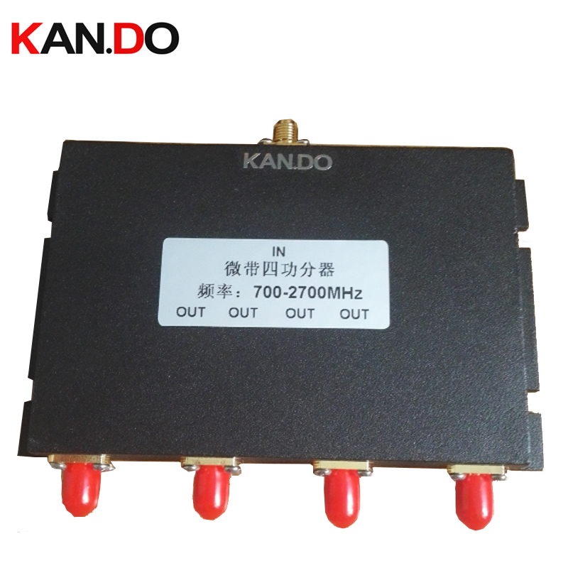 telecom use 4 Way sma Power Splitter 700~2700MHz power divider mobile phone booster splitter raido frequency divider