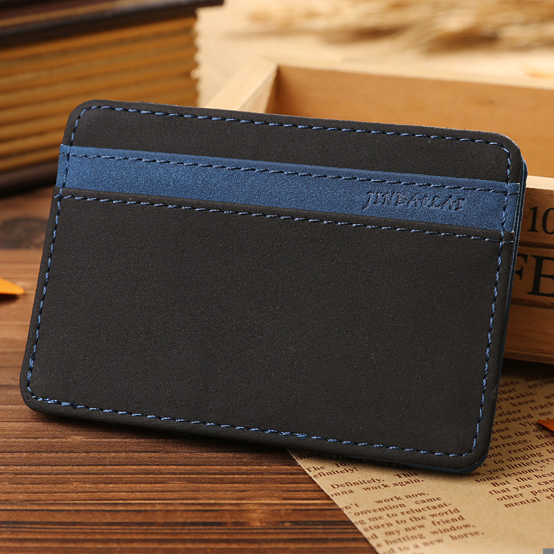 JINBAOLAI Slim Male Magic Wallet Scrub PU Leather Purse High Quality Carteira Magica Masculina Porte Monnaie Small Wallets 2018 5