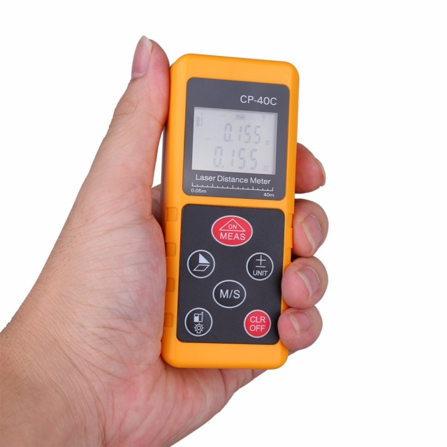 High Accuracy Handheld Digital IR Laser Distance Meter Compact LCD Measure Tool