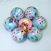 3 6Pcs Set Boneca POP LOL Girls Magic Funny Removable Water Spray Egg Ball Doll Color