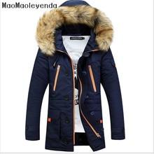 Winter Jacket Men Fur Collar Coat Mens Winter Jackets And Coats Men Winter Jacket Chaqueta Hombre Solid Parkas Hombre Invierno