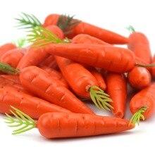 Дешевые 30 штук морковь Мини Искусственный пластик пена морковь фрукты и овощи ягоды Свадьба Рождество Семья Кухня Decoratio
