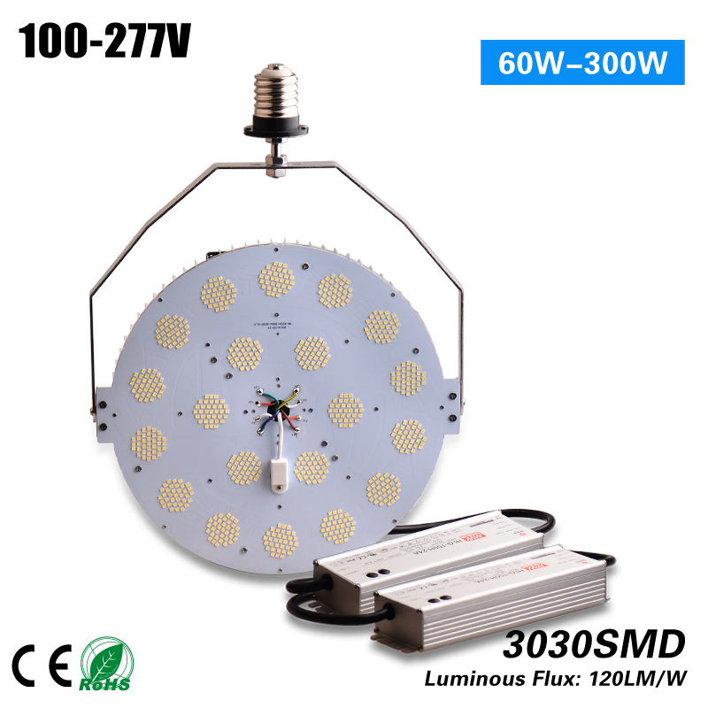 цены Free Shipping CE ETL ROHS 347v/480v high voltage Led 300w Retrofit Kit replacement 1000w HPS MH meanwell driver 5 years warranty