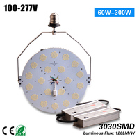 Free Shipping CE ETL ROHS 347v/480v high voltage Led 300w Retrofit Kit replacement 1000w HPS MH meanwell driver 5 years warranty
