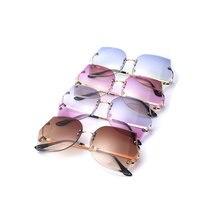 Gradient Clear Sunglasses Women Lady Female Sun Glasses