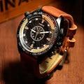 Yazole 2017 top brand reloj de los hombres del deporte de la moda relojes de cuero de lujo de pulsera reloj masculino mens reloj de cuarzo relogio masculino