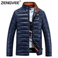Brand Clothing Mens Zipper Winter Jackets Coats Wadded Windproof Top Quality Fashion For Male Outdoorwear Clothing