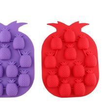 Multifaction силиконовые решетки лед Maker ананас Форма льда лоток Плесень шоколадное печенье мыло выпечки Кухня инструмент