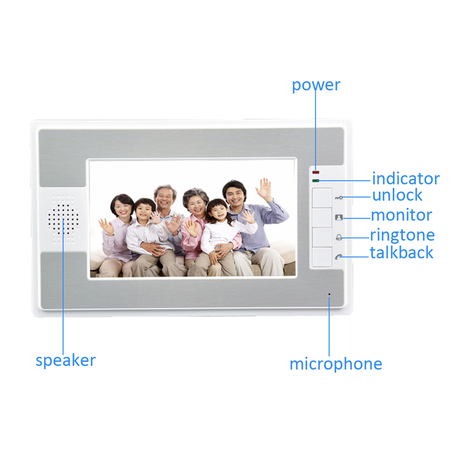 (1 SET) Intelligent Home 2 camera to 3 Monitor Video Door phone RFID Inductive Card Easy Unlock Family use HD 700 Lines intercom 6