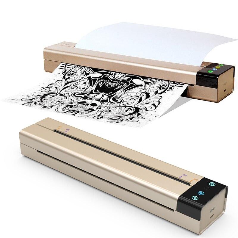 US/UK Type Mini USB Tattoo Transfer Copier Printer Machine Tattoo Thermal Transfer Paper Tattoo Stencil Maker Machine Accessorie wiki uk tattoo