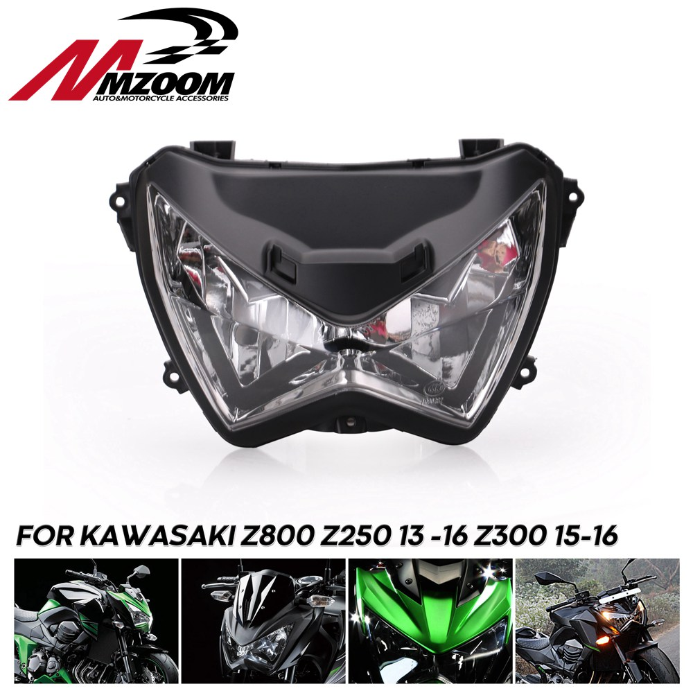 Motorcycle Headlight Headlamp Head Light Lamp Assembly For Kawasaki Z800 Z250 2013  2016 Z300 2015 2016|  - title=