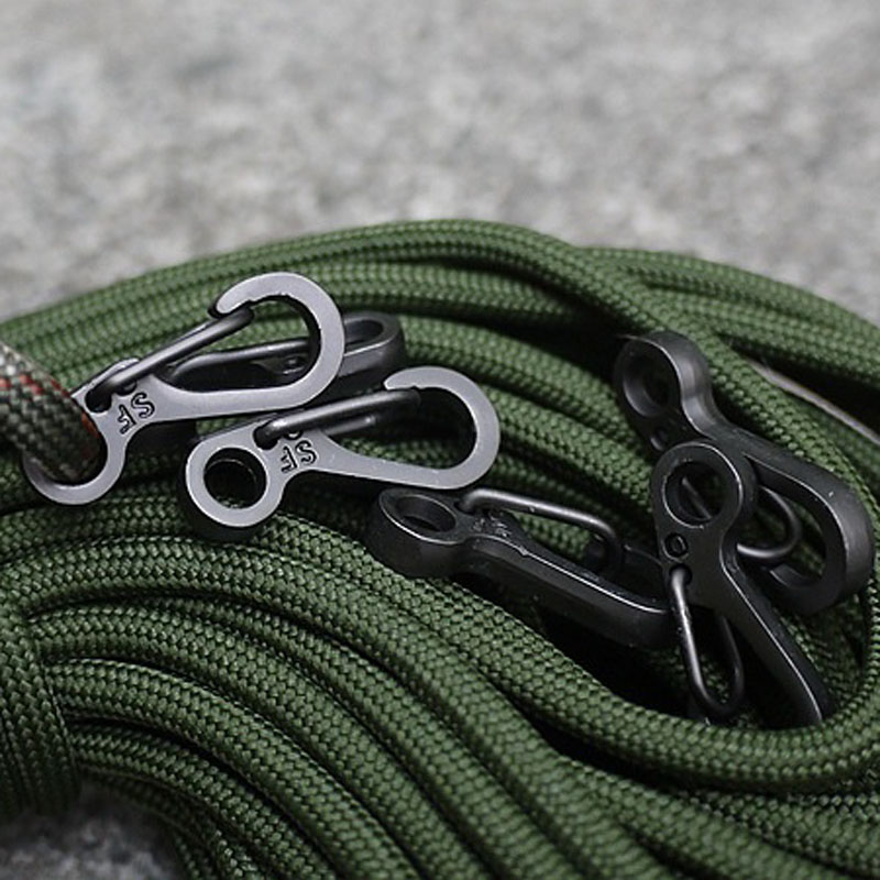 Climbing Hanging Buckle Snap Clip Hook Keychain Carabiner D Ring Shape New