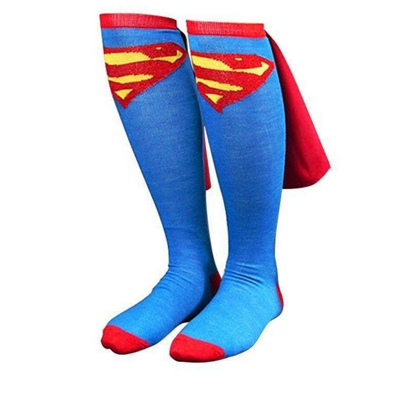 gkwmzg-unisex-cotton-socks-font-b-marvel-b-font-super-hero-superman-knee-high-with-cape-stockings-cosplay-costume-sock