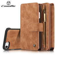 For Case Iphone 6 S Plus Cover Wallet Flip Leather Luxury Full Phone Protective Brown For