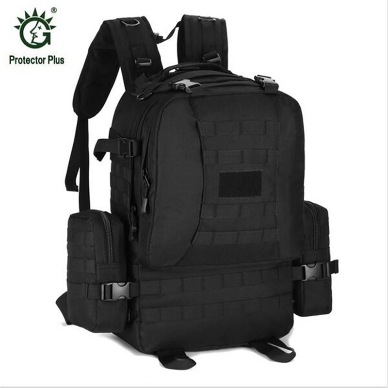 Protector Plus High-capacity Backpacks High Quality Nylon Military Backpack Multi-function Bags Casual Camouflage Bag P017 2017 hot sale men 50l military army bag men backpack high quality waterproof nylon laptop backpacks camouflage bags freeshipping