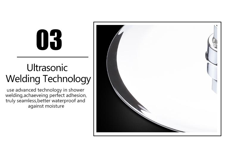 UFO Shower Head Showerhead Body Sprays Shower Head Round 8 Inch Ultra-Thin 2mm Bathroom Rain Shower Heads (16)