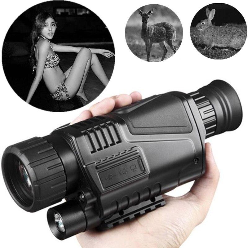 Night Vision Telescope With Infrared Digital Real Monocular Hunting Tool 5X40 Black Prismaticos Profesional Telescopio Optics in Monocular Binoculars from Sports Entertainment