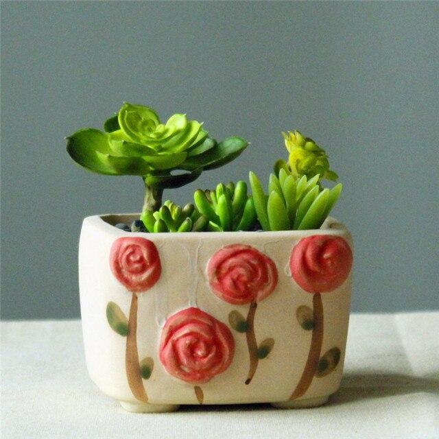handmade ceramic handicraft pot Rose flowers pots 04149 11*9.7*6.5cm & handmade ceramic handicraft pot Rose flowers pots 04149 11*9.7*6.5cm ...