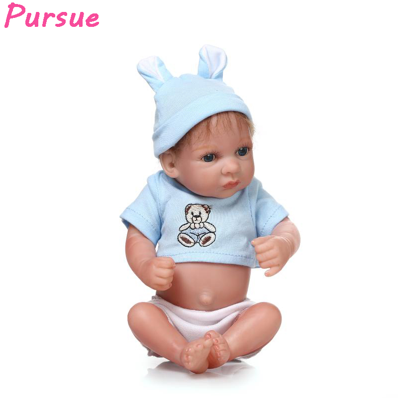 Pursue Full Body Silicone Reborn Baby Doll Baby Real Silicone Baby Dolls for Sale Bebe Reborn bonecas reborn de silicone inteiro 50cm pink silicone dolls reborn cute toys for children kids bonecas reborn de silicone inteiro pretty silicone reborn dolls