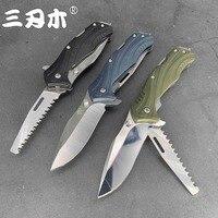 Sanrenmu 7098 dobrável multi funcional faca de dobramento lâmina 12c27 pa66 + gf lidar com acampamento ao ar livre caça corte edc bolso ferramenta Facas     -