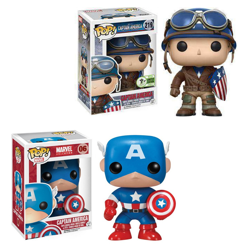 Funko POP Marval The Avengers Captain America Vinyl Figure Collectible Action Figures Model Toys Collection for Children GiftsFunko POP Marval The Avengers Captain America Vinyl Figure Collectible Action Figures Model Toys Collection for Children Gifts