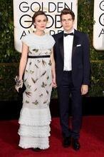 72nd Golden Globe Groom Tuxedos Navy Blue Best Man Suit Notch Lapel Groomsman Men's Wedding Suits (Jacket+Pants+Tie)