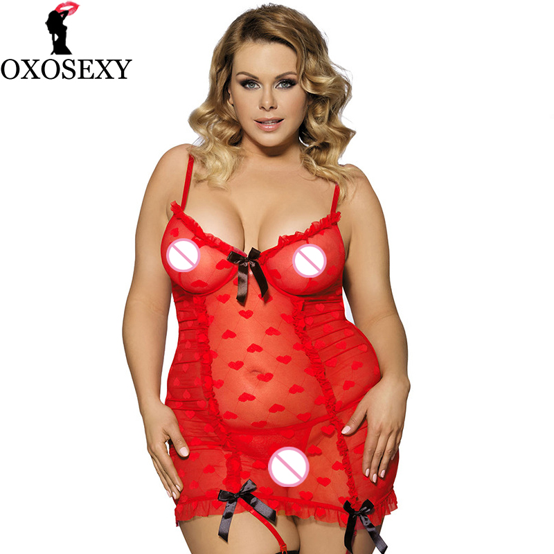 xxxl 5xl Garter Belt Love Heart Red Lace Dress Lady Robe <font><b>Sexy</b></font> Nightwear Plus Size <font><b>Lingerie</b></font> <font><b>Sexy</b></font> Erotic Women <font><b>Costumes</b></font> <font><b>Bow</b></font> 177 image