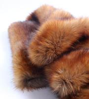 Wholesale Brown 5cm Thick Imitation Fox Plush Fabric Performance Suits Faux Fur Hunter Field Apparel Animal