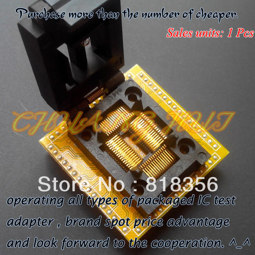 QFP64 Test Socket FPQ-64-0.8-10 Test Socket/IC Socket Pitch=0.8mm