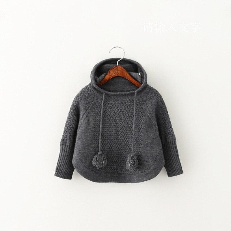 2016 Neue Stil Kinder Pullover Gestrickt Mit Kapuze Kleidung Bebe Baby Kinder Kleidung Oberbekleidung Mantel 2-7years Wolle 2 Farben Vertrieb Von QualitäTssicherung