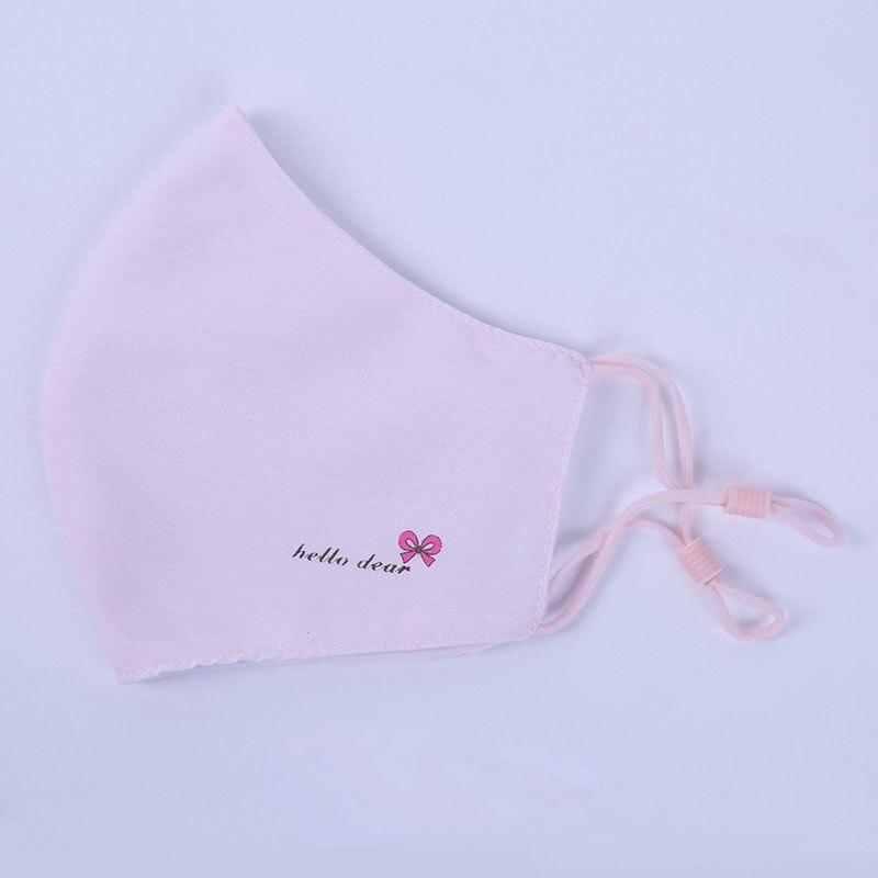 Маска Hello Dear, весенняя, хлопковая, пылезащищенная, с бантом, дышащие маски для женщин, модная, с принтом, розовая, Корейская маска для лица M012