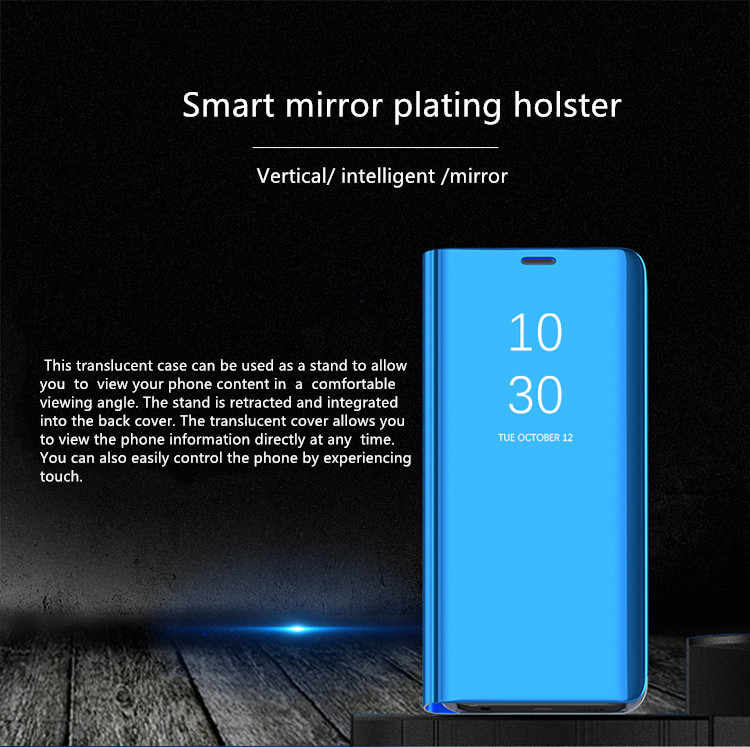 Huawei P30 Pro Smart Mirror Window Flip vertical Phone Case For P20 Pro P9 P10 Plus P10 P20 P30 Lite case cover
