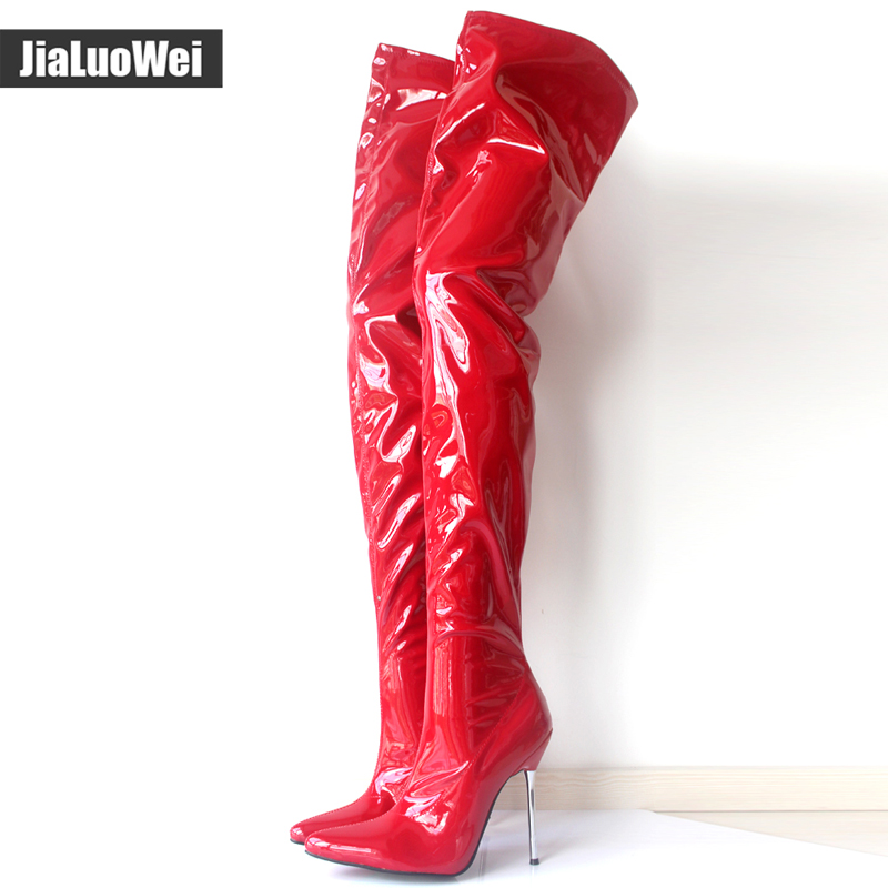 3c6cb100992 Woman's Spring/Autumn Thigh High Boots Sexy Boots High Heel Patent ...