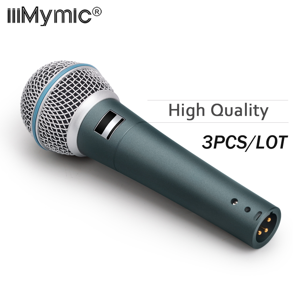 3PCS LOT High Quality Professional BT 58A Vocal Karaoke Handheld Dynamic B 58 A Wired Microphone