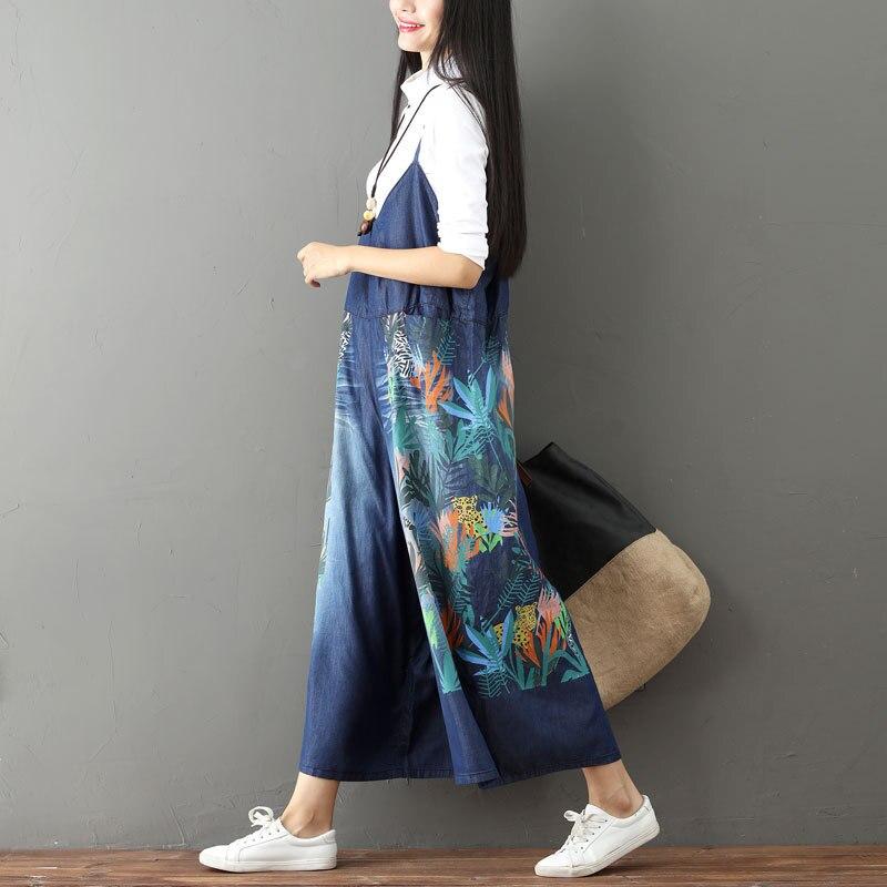 Mono Prendas Mezclilla De Mujeres La Algodón Moda Coreano Mujer Vaqueros Ancha Verano Plus Primavera Pierna 1 Talla Para Impresión 2019 xBIgfqw