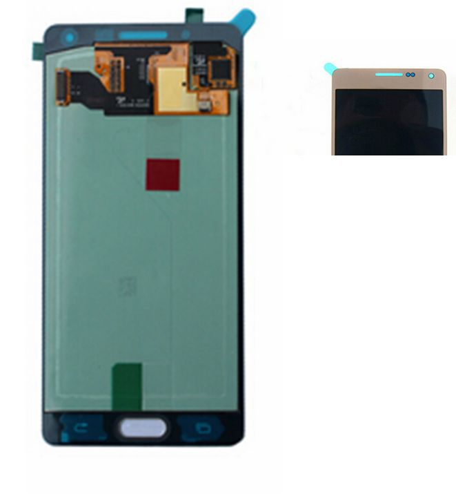 2015 Golden color Lcd Display+Touch Panel Digitizer Glass Assembly For Samsung Galaxy A5 A5000 A500f replacement Amoled