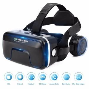 Image 2 - Mới VR Shinecon 6.0 Nâng Cấp Phiên Bản Thực Tế Ảo 3D VR Kính Tai Nghe Mũ Bảo Hiểm Hộp Trò Chơi Hộp Trò Chơi