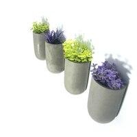 Decorative Wall Flowerpot Concrete Molds DIY Silicone Cement Pot Molds